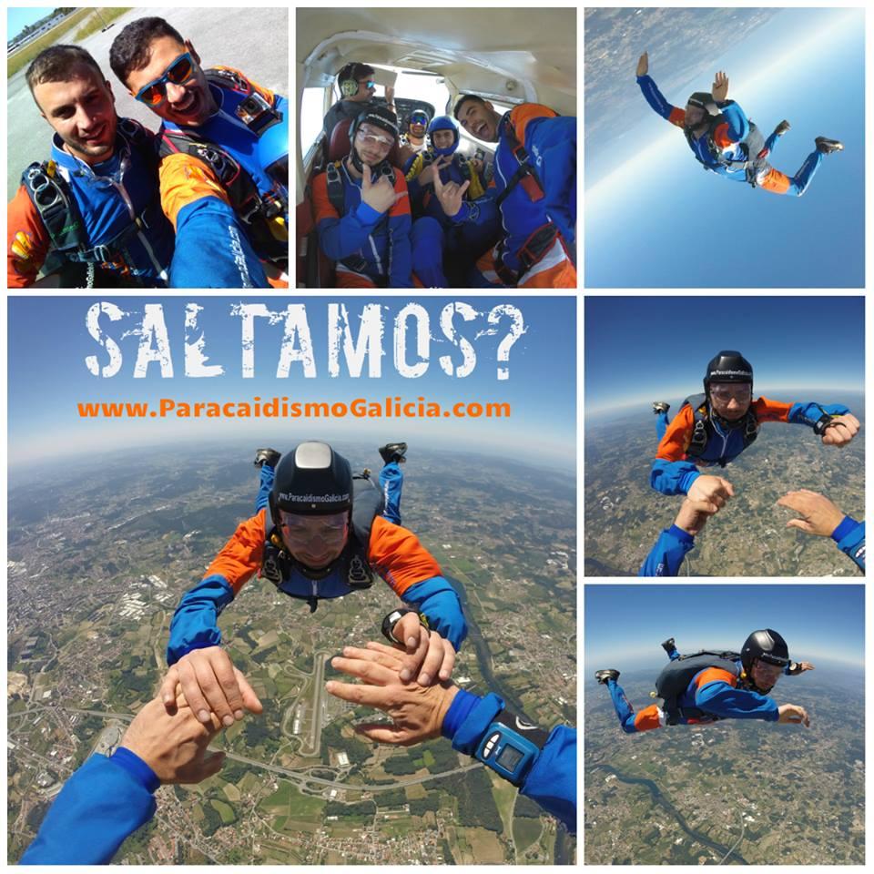 Alex, paracaidista titulado en Paracaidismo Galicia
