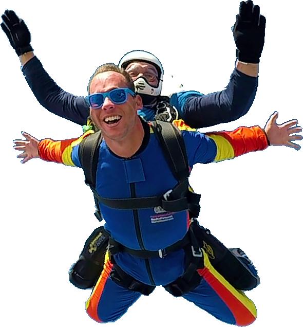 Saltar en paracaídas en paracaidismo Galicia. Saltos tandem